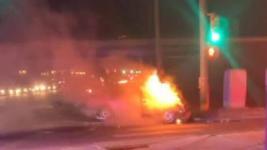 Colorado couple pull driver from crashed car moments before it goes up in flames