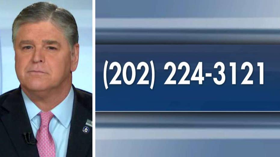 Hannity: Call your member of Congress and demand they do their jobs and secure our borders