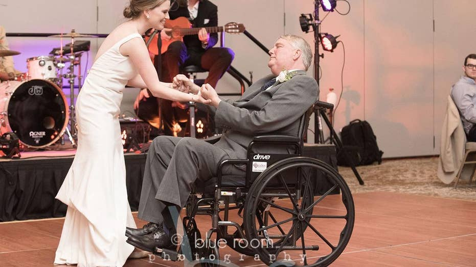 Brides Wedding Dance With Terminally Ill Dad In Wheelchair Goes