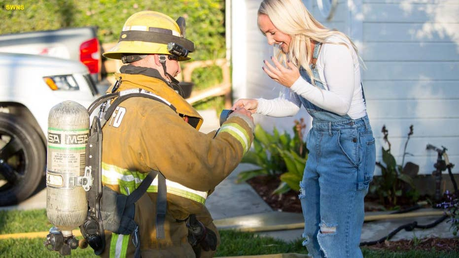 Firefighter creates fake home fire so he could propose to his girlfriend