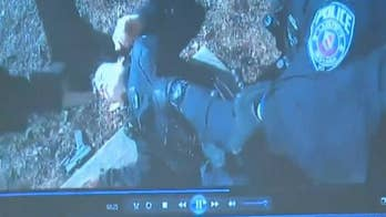 Indiana police officer accidentally shot by other cop in dramatic bodycamera video
