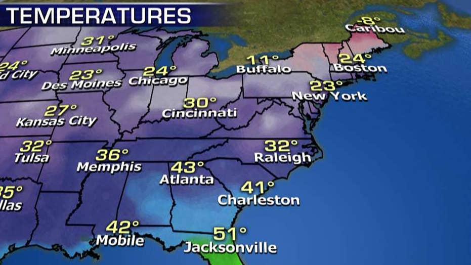 National forecast for Monday, January 14