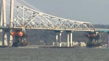 Tappan Zee Bridge comes crashing down in planned demolition