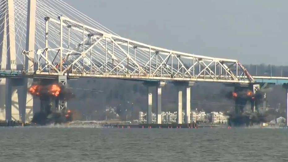 Tappan Zee Bridge comes crashing down in planned demolition | Fox News
