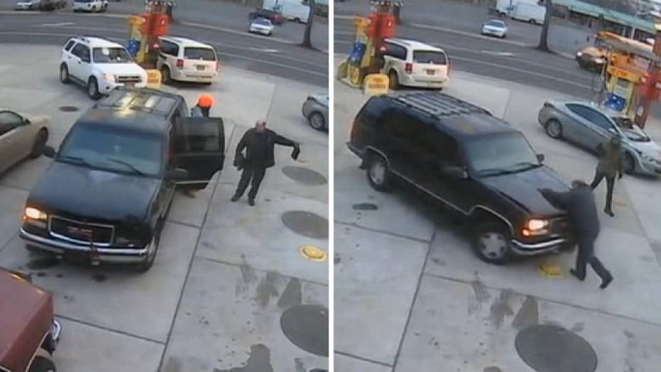 New York gas station manager mowed down by driver who stole