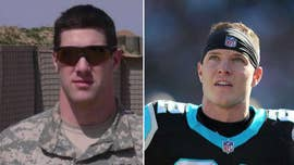 Carolina Panthers' Christian McCaffrey sending two Army veterans to Super Bowl