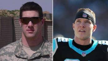 Carolina Panthers' Christian McCaffrey sending two Army veterans to Super Bowl