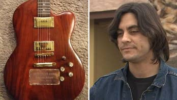 Musician seeks help finding stolen guitar that holds his brother's ashes