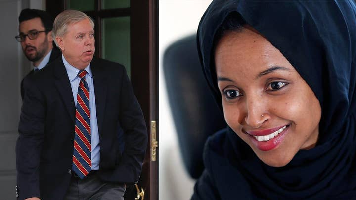 Rep. Ilhan Omar under fire for pushing allegations that Sen. Lindsey Graham is being blackmailed into supporting Trump