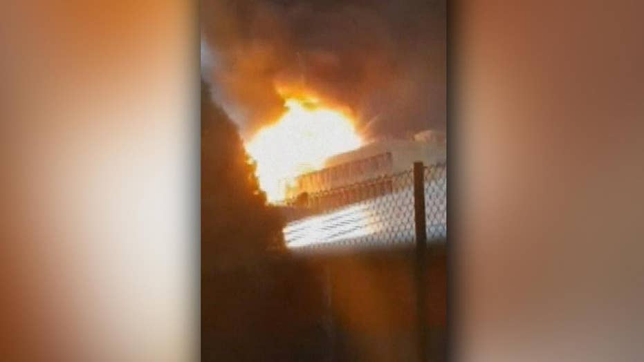 Explosion at University of Lyon science building caught on camera