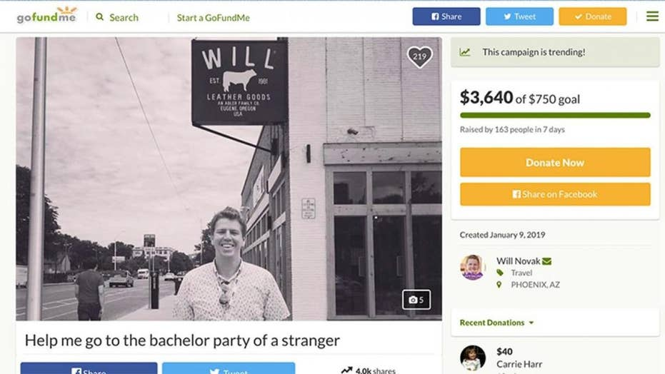 Man flies across the country to attend a bachelor party for a man he never met