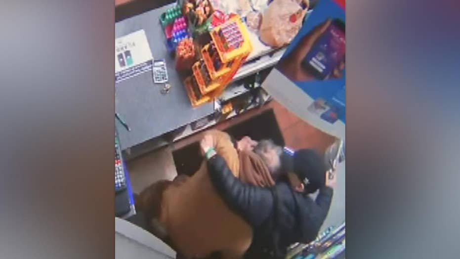 Clerk robbed, brutally attacked by 3 males with handgun