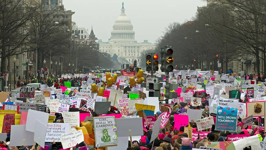 Rachel Campos-Duffy attends the Women's March in Washington, DC