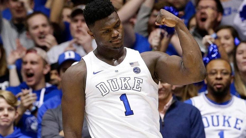 Duke beginner Zion Williamson throws down implausible dunk