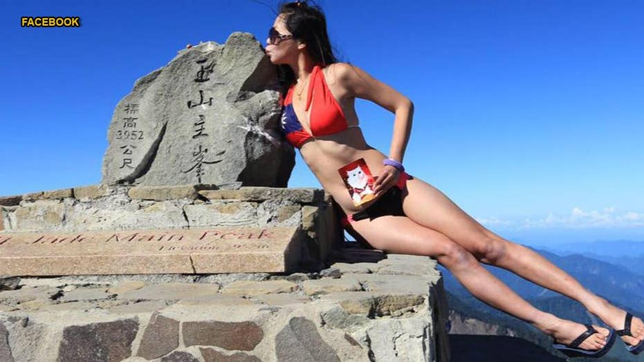 'Bikini climber' reportedly freezes to death after falling off mountain in Taiwan
