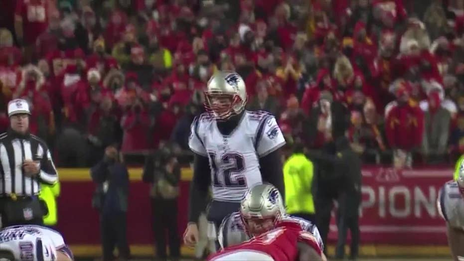 Green laser apparently pointed around New England Patriots' Tom Brady