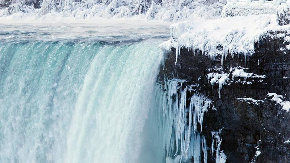Parts of Niagara Falls freeze and look like a scenes from a Disney movie