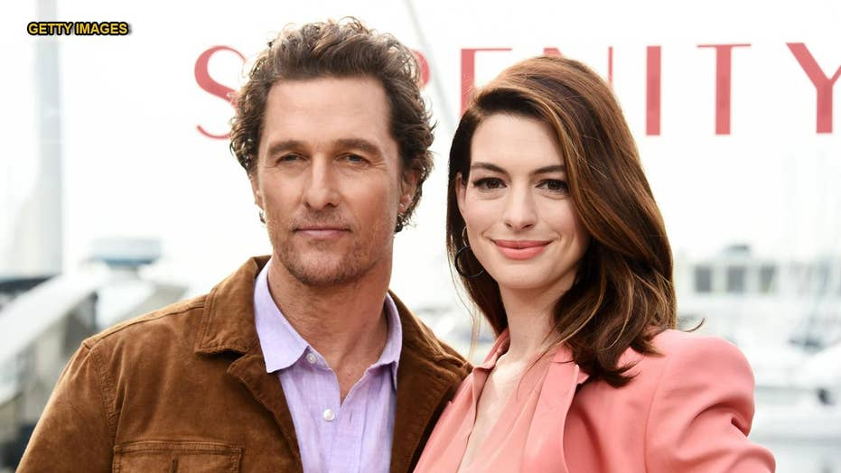 Anne Hathaway says she's done drinking after night out with Matthew McConaughey