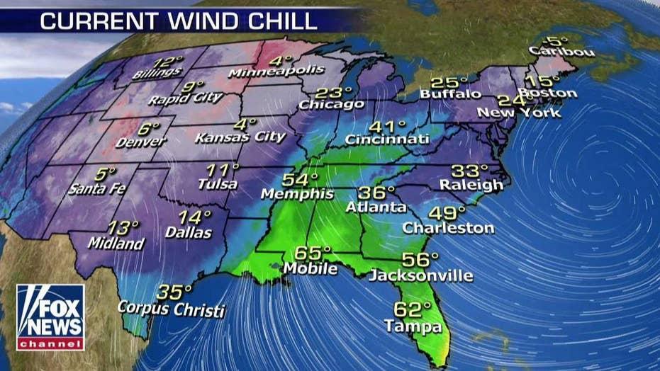 National forecast for Wednesday, January 23