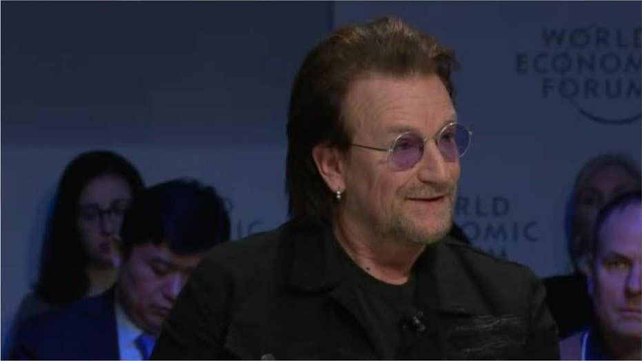 Bono calls capitalism 'amoral' at World Economic Forum event