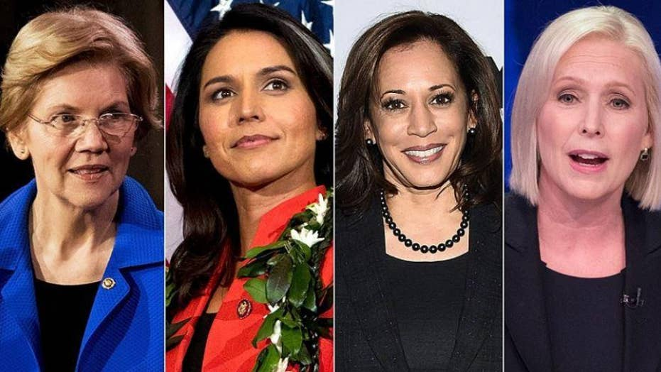 Historic number of women aim for White House