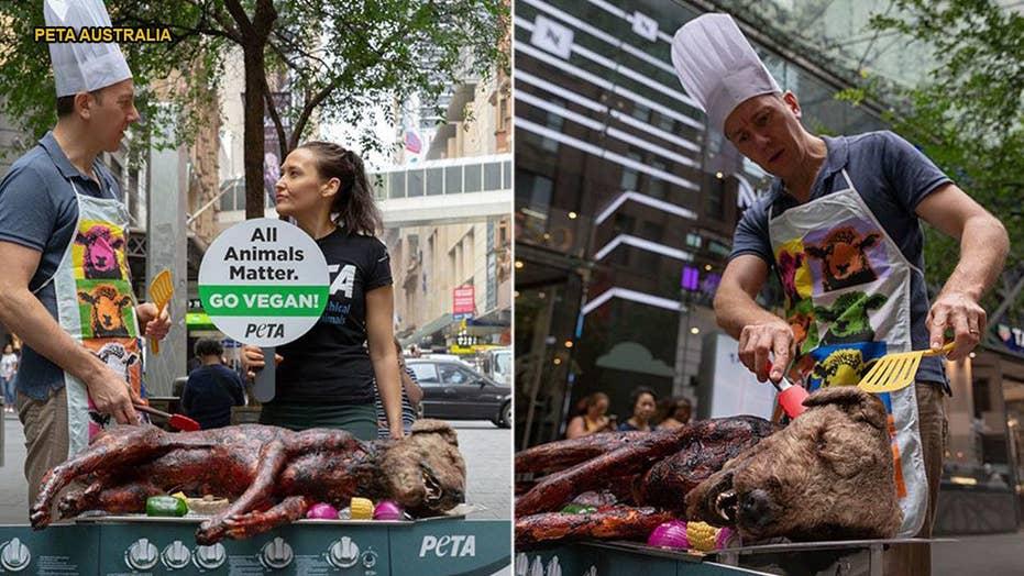 GRAPHIC PHOTO WARNING: PETA 'grills' dog in disturbing vegan promo