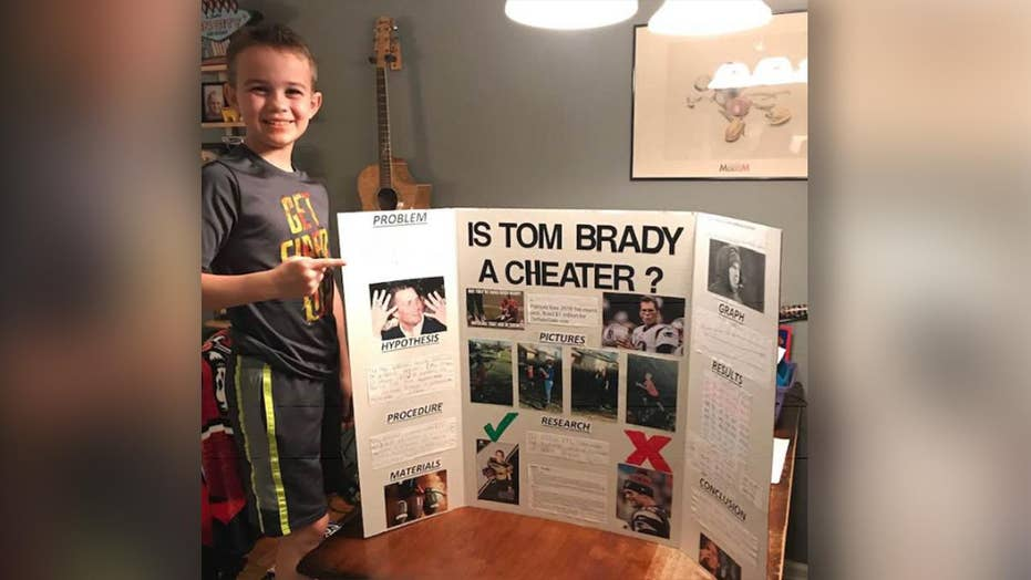 Boy wins science fair with project proving Tom Brady is a cheater
