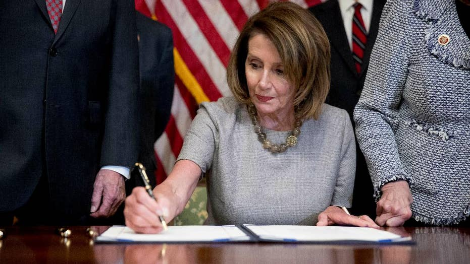 Did the president cave to Nancy Pelosi? Trump signs bill to reopen the government with no wall funding