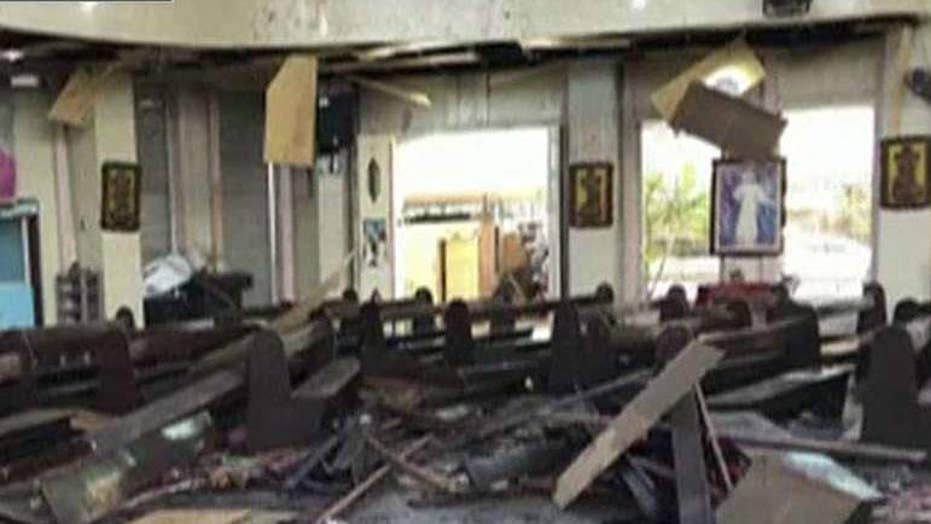 At least 20 dead, 70 injured following bomb attack inside a church in the Philippines