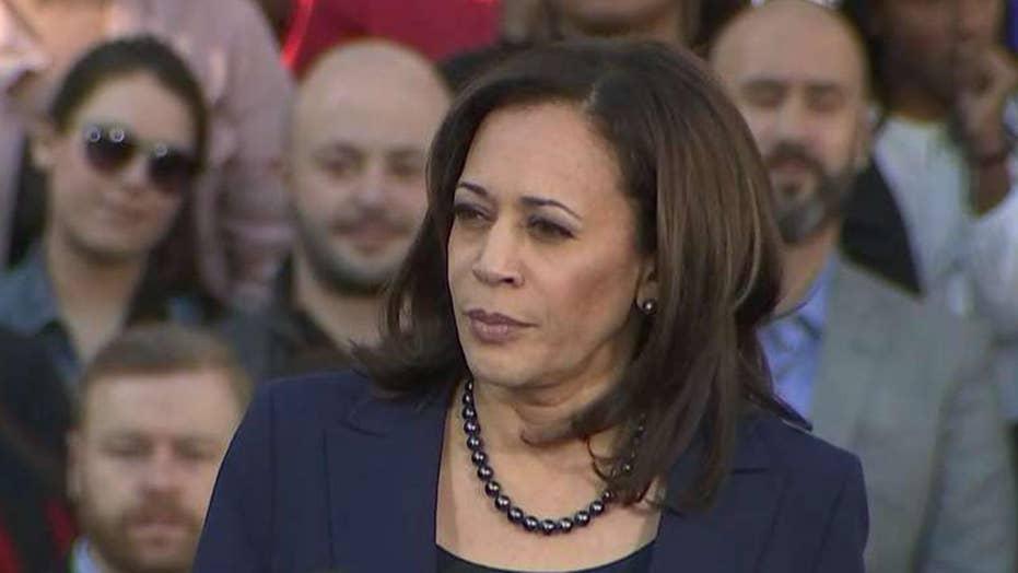 Sen. Kamala Harris holds rally in Oakland, California to kick off her 2020 presidential bid