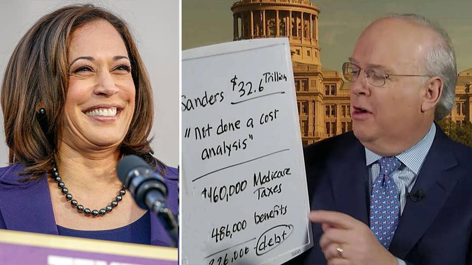 Karl Rove says Kamala Harris' big government proposals lack cost analysis