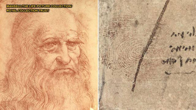 Leonardo Da Vinci's thumbprint discovered in drawing owned by Queen Elizabeth