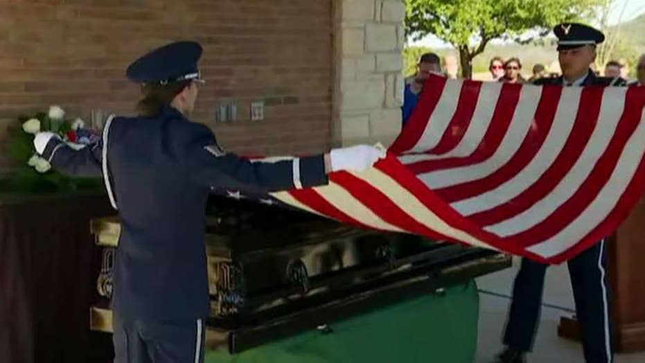 Thousands respond to viral appeal to attend funeral for Air Force veteran