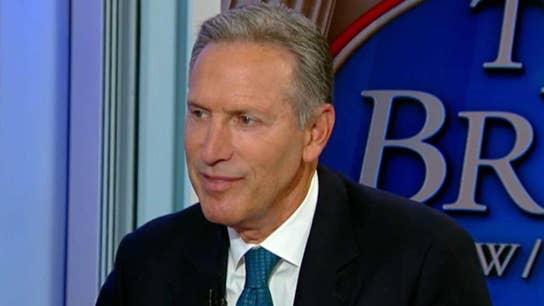 Howard Schultz disputes Trump's economic wins