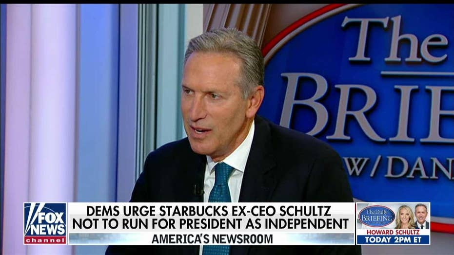Howard Schultz responds to Dems urging him not to run in 2020.