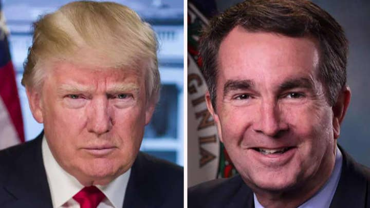 Trump slams Virginia governor over abortion comments