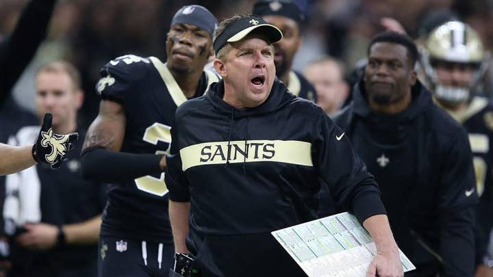 New Orleans Saints coach takes dig at Roger Goodell with clown T-shirt