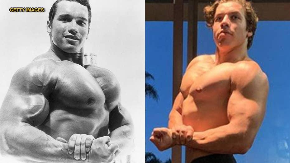 Arnold Schwarzenegger's son recreates another of a bodybuilding legend's poses