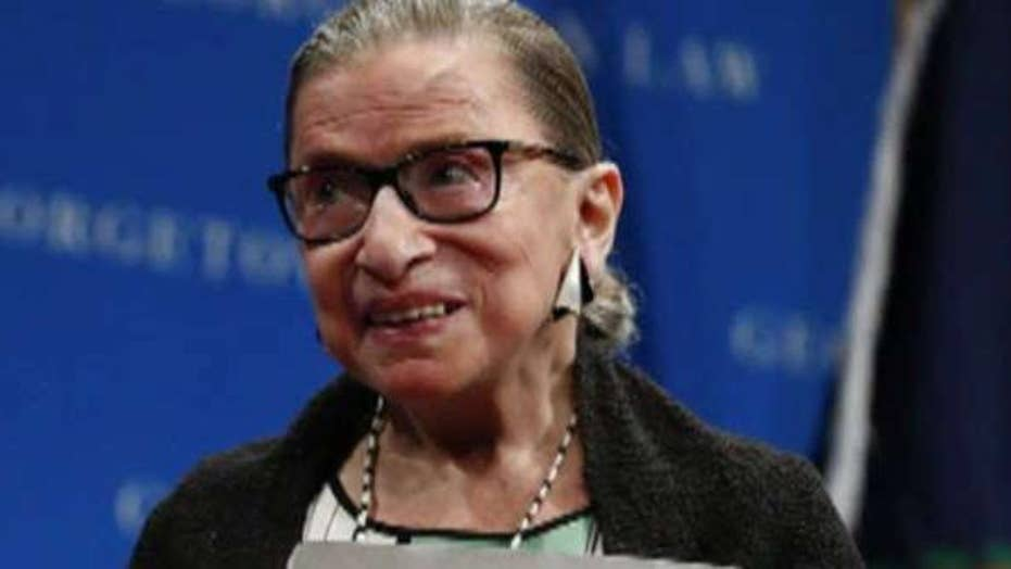 Supreme Court Justice Ruth Bader Ginsburg makes first public appearance since undergoing cancer surgery