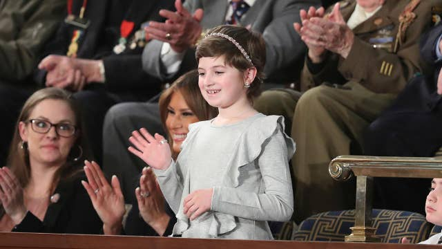 'It was very cool': 10-year-old cancer survivor describes attending the SOTU as Melania Trump's guest