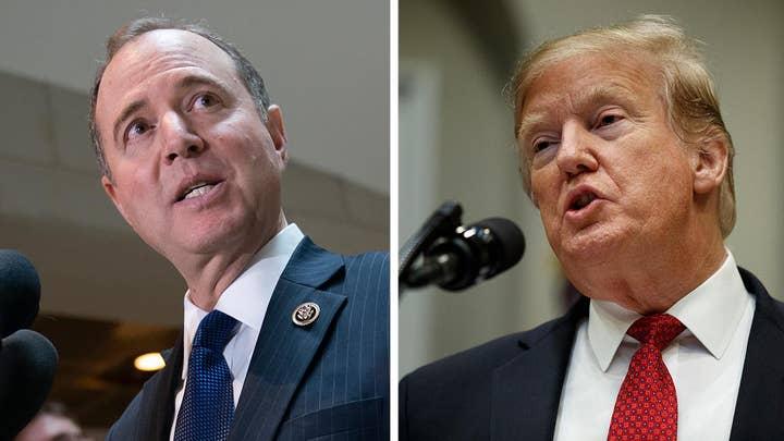 President Trump calls Rep. Schiff a 'political hack,' warns Democrats over investigations