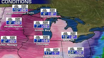 Dangerous wind chills sweep the Northern Plains and Midwest