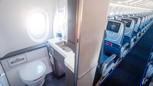 Delta's new A220 aircraft features bigger seats and a bathroom 'with a view'