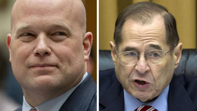 Acting Attorney General Whitaker draws gasps for telling Chairman Nadler that his 5 minutes are up thumbnail