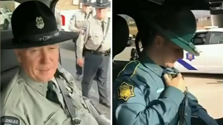 Cop son surprises officer father with final sendoff on last radio call before retirement
