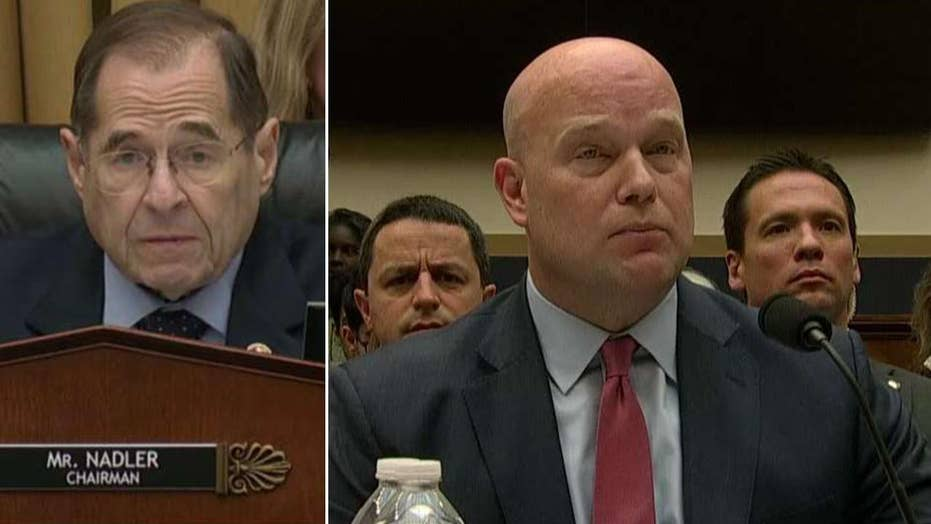 Acting Attorney General Whitaker and Chairman Nadler spar over Robert Mueller's investigation