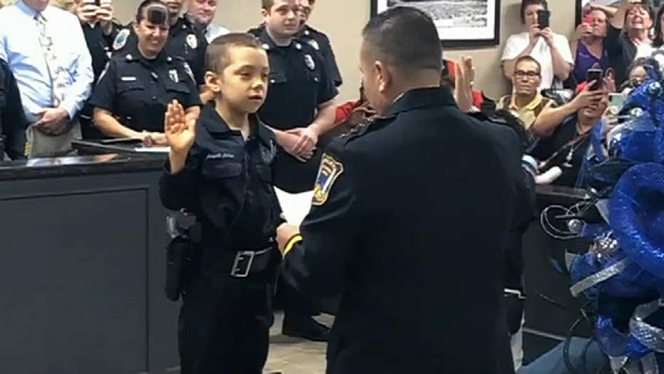 6-year-old girl battling cancer sworn in as an honorary police officer, fulfilling her dream