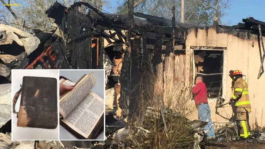 Alabama man says it was a sign from God when his grandfather's Bible survived a massive house fire