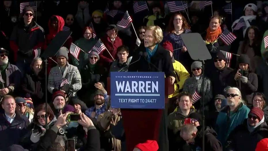 Democrat Sen. Elizabeth Warren announces her 2020 presidential campaign