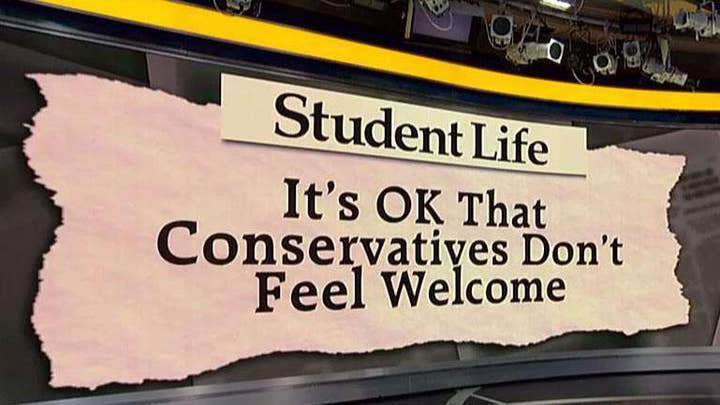 Washington University student newspaper writer says it's ok that conservatives don't feel welcome on campus